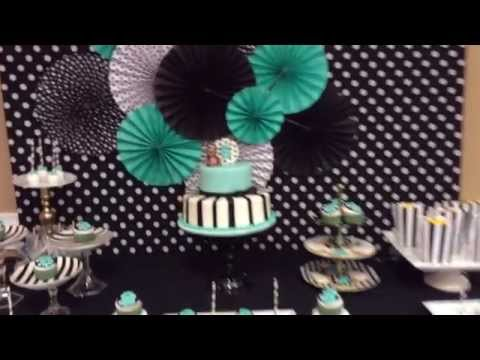 Tiffany Blue Black And White Baby Shower Youtube