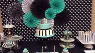 Tiffany Blue, Black And White Baby Shower
