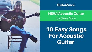 10 Easy Songs For Acoustic Guitar With 5 Chords Or Less | Acoustic Guitar Lesson