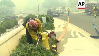 Firefighters are battling 9 separate wildfires in Southern California's San Diego County. The fires