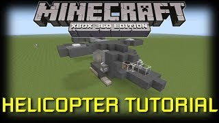 Minecraft Xbox 360: How to Build a Helicopter!
