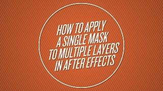 Anwenden einer Maske für Mehrere Ebenen in After Effects