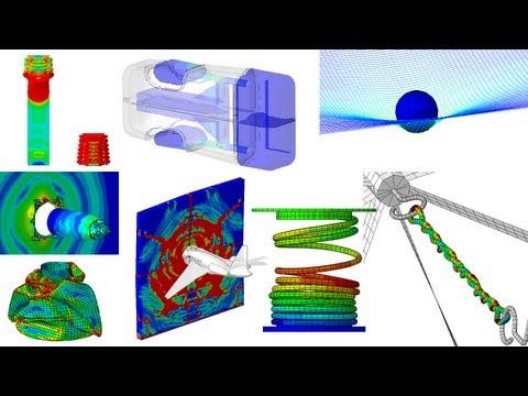 17 exemples de simulations numériques par éléments finis (Abaqus): Les exemples suivants ont été réalisés par les équipe d'EC2 Modélisation, à l'aide des solveurs implicites et explicites d'Abaqus :  - crash d'une Toyota Yaris Sedan - crash d'un jet privé sur un mur en béton - pelleteuse - compression d'une bouteille en plastique - rupture d'un clip de sac à dos - engrenages - compression d'un ressort - impact d'une balle dans un mur - application du vent sur une enseigne - remplissage d'une citerne souple - amortisseur dynamique - propagation d'une fissure - simulation numérique du soudage - chute d'une balle dans un filet - tennis - hélice  Pour plus d'informations, rendez-vous sur notre site internet : http://www.ec2-modelisation.fr/