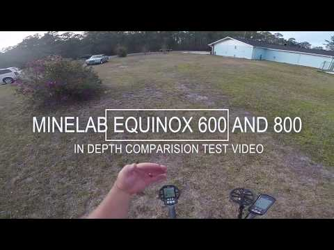 MINELAB EQUINOX 600 AND 800 IN DEPTH COMPARISON VIDEO