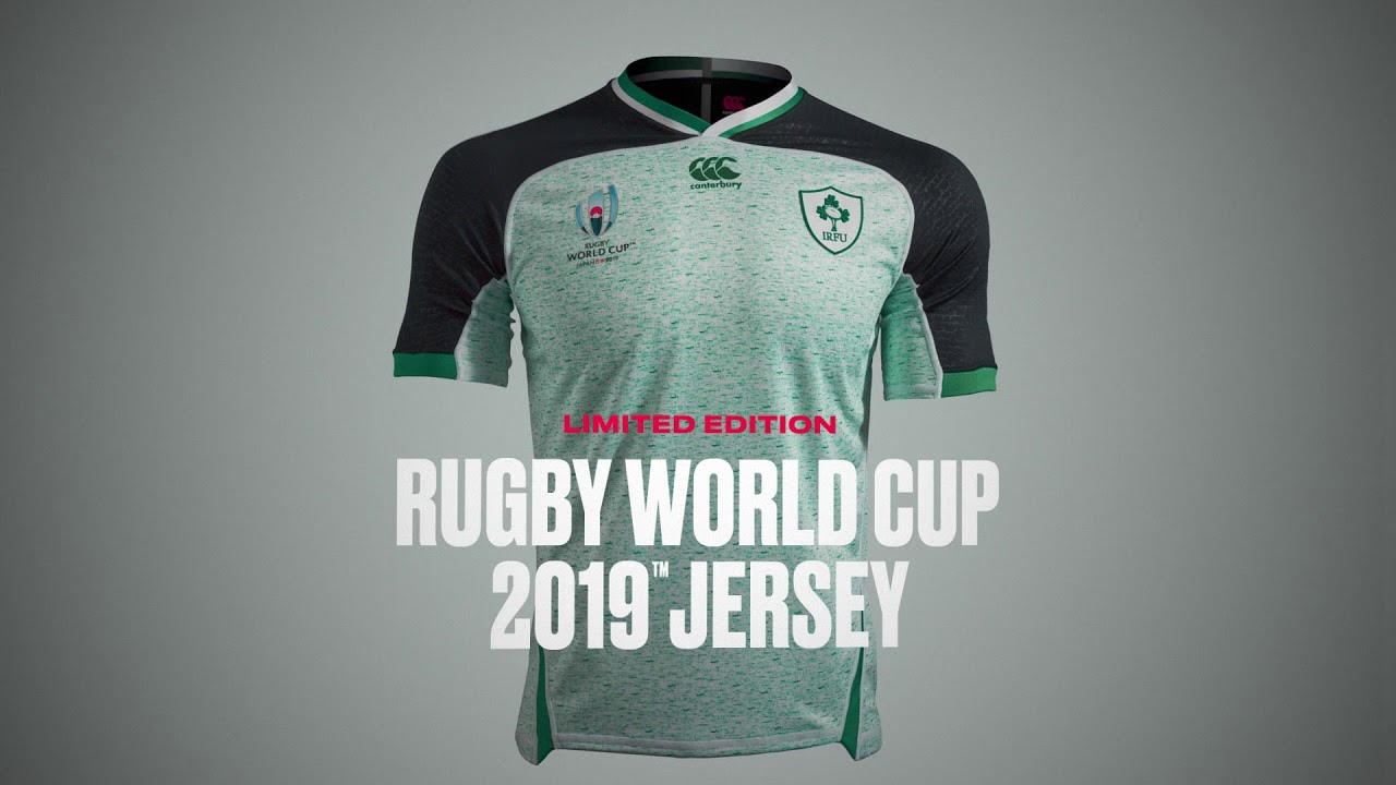finest selection 9cdcf 4c72a CCC Canterbury Ireland Away Rugby World Cup 2019 Replica Shirt