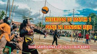Match 1: PUTRI PANJI VS BANGUN REJO, Turnamen Sampoerna Cup, Lubuk Karet, Banyuasin 2020...