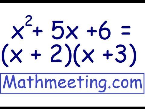factoring trinomials - YouTube