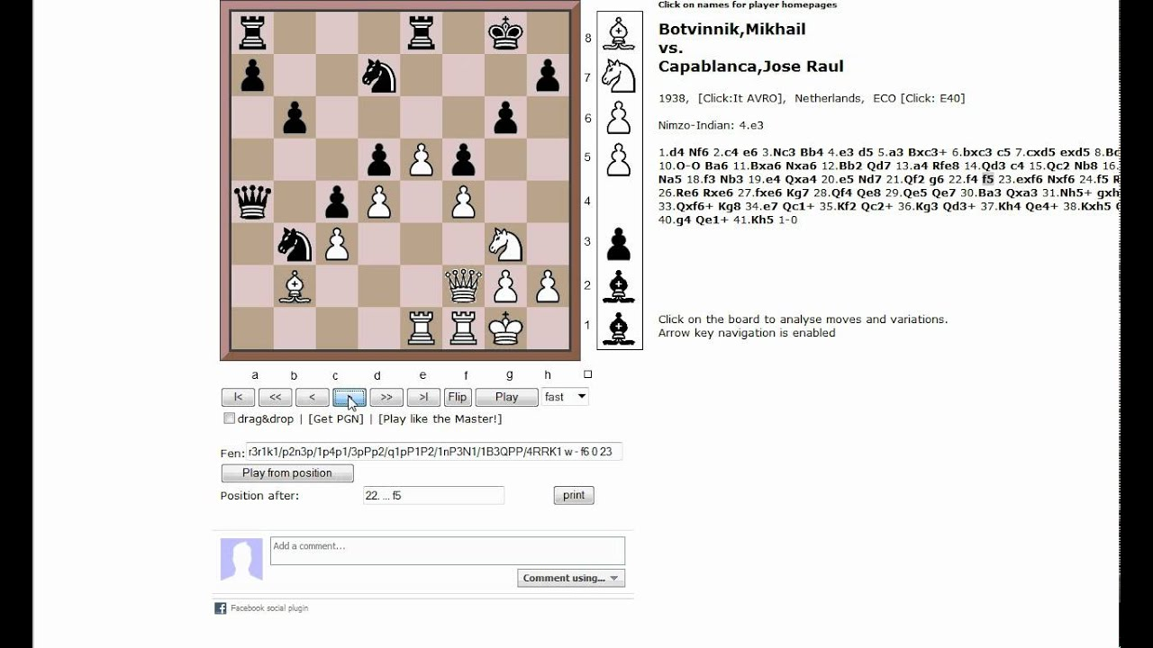 Chess World net: Annotated Master Games at www Chessworld net  (Chessworld net)