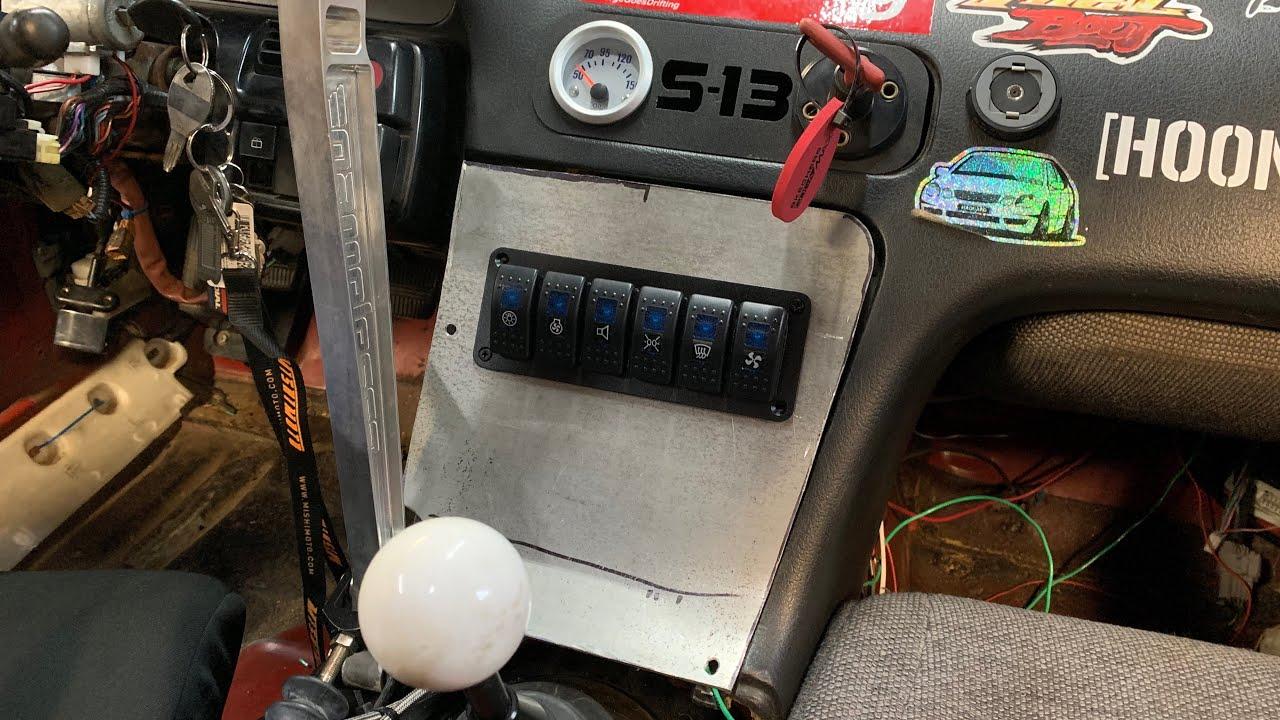 VQ35DE 240sx Drift Car Switch Panel Install - YouTubeYouTube