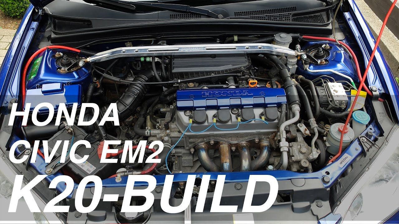 Civic EM2 K20 Swap EP. 01 - Engine Removal - YouTube
