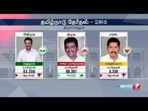 TN election 2016 results: Winning candidates and constituencies | News7 Tamil