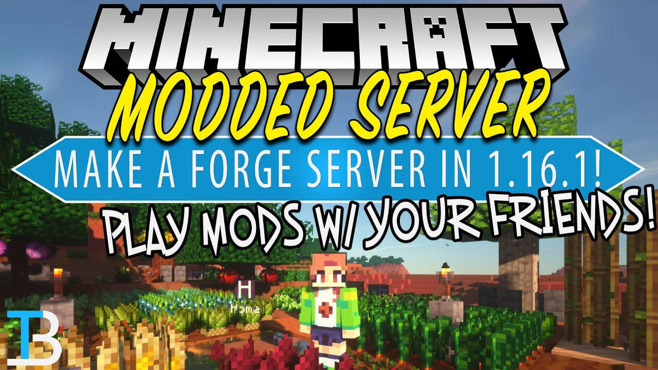 How To Make a Modded Minecraft Server in Minecraft 1 16 1 (Play