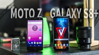 Moto Z vs Galaxy S8+ le Fight en français