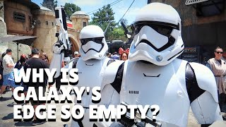 Why is Galaxy's Edge so EMPTY on Opening Week?