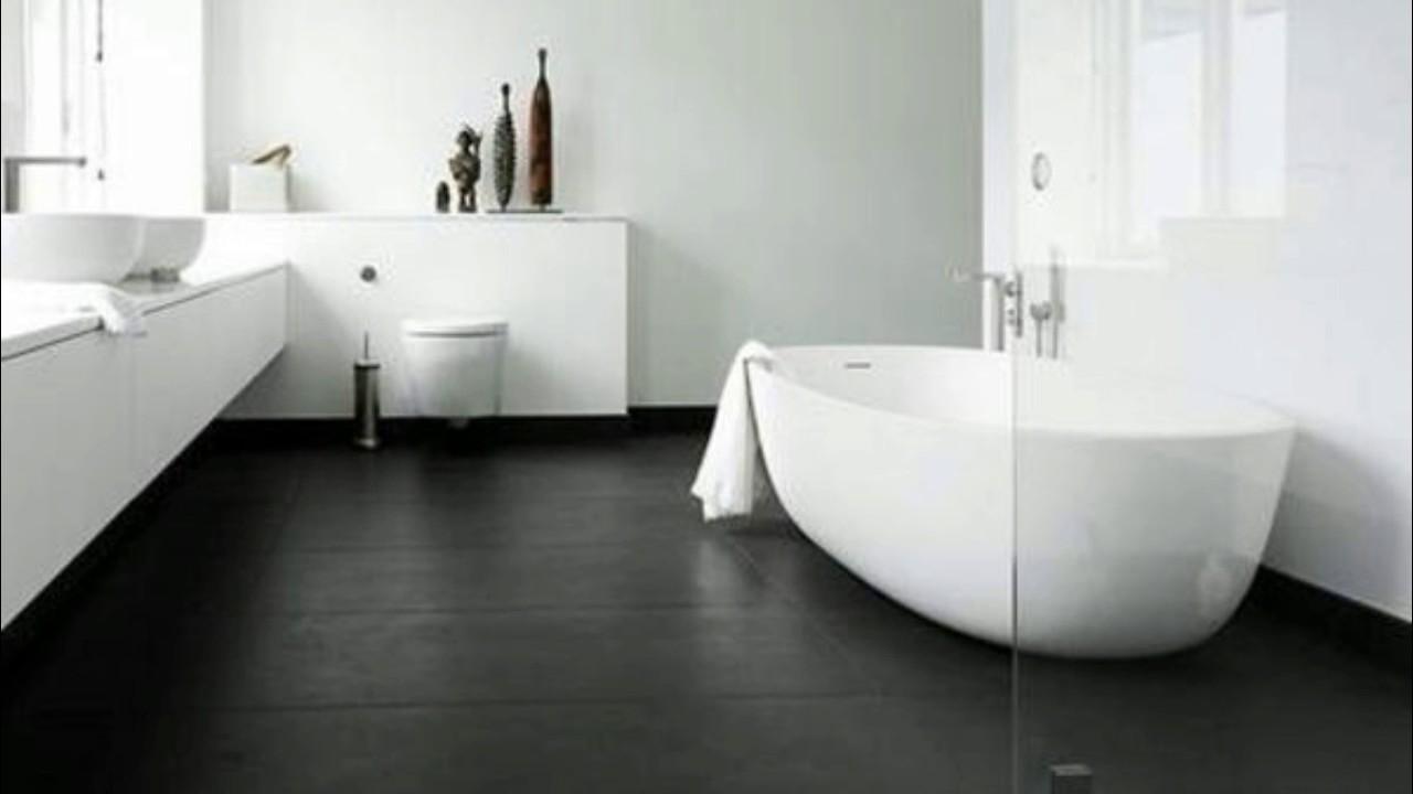 Badezimmer Ideen  Badezimmer Dunkler Boden  YouTube