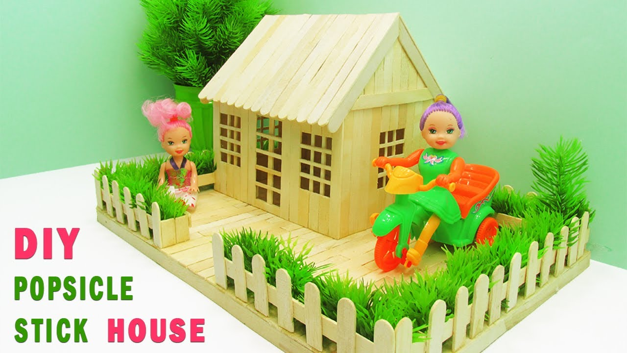 How to Make Popsicle Stick House How to Make Popsicle Stick Garden Villa