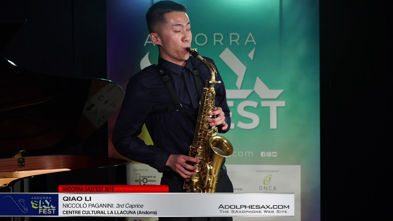 Andorra SaxFest 2019 1st Round   Qiao Li   3rd Caprice by Niccolo Paganini