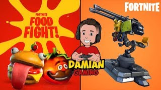 FOOD FIGHT  | FORTNITE KID GAMER | DAMIAN GAMING