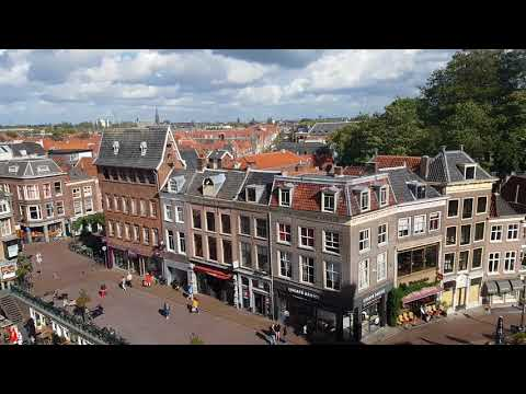 The city Leiden in the Netherlands from above.