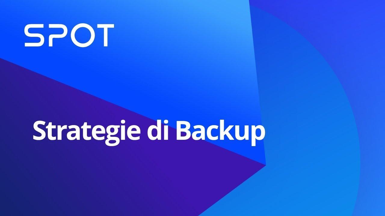 Strategie di Backup - Synology Webinar (Italiano)