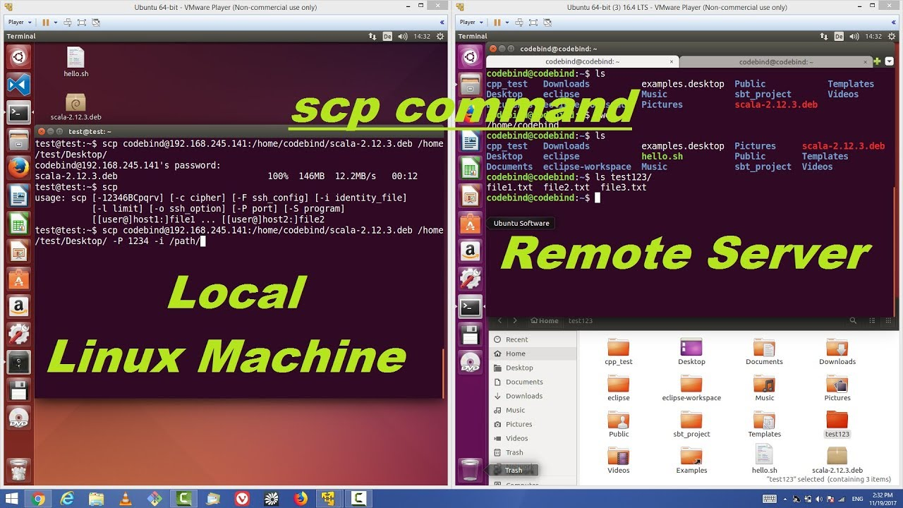 scp from linux to windows