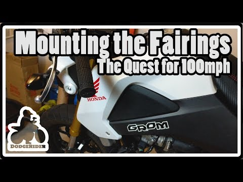 Mounting the Fairings - The Quest for 100mph
