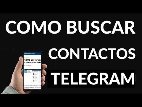 Cómo Buscar un Contacto en Telegram