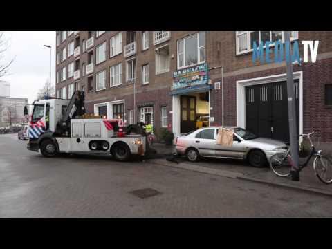 Persoon vanuit auto beschoten Heemraadssingel Rotterdam