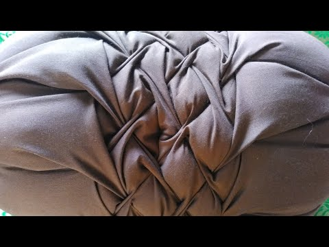 how-to-make-round-pillow-cover//-regular-cushion-cover||-cover-cutting-and-stitching.......