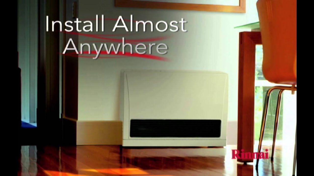 Rinnai Energysaver 174 Direct Vent Wall Furnaces Youtube