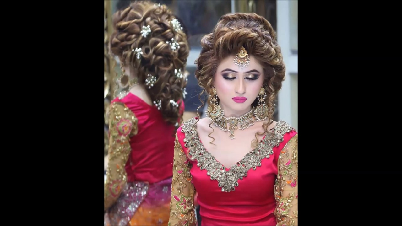 Mehndi Hairstyles S : Kashee s awe inspiring hair style hd youtube
