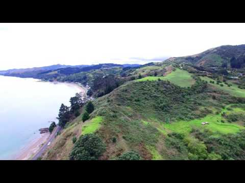Flying DJI Phantom 3 At Coromandel Coast New Zealand 4K