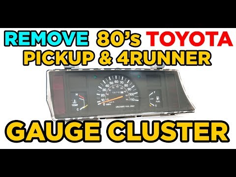 How To: Remove 84-88 Toyota Pickup/4Runner Gauge Cluster