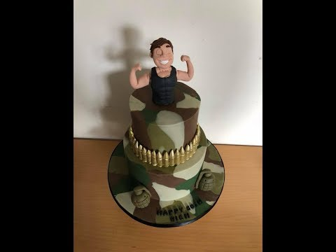 How To Create A Camouflage Effect Cake