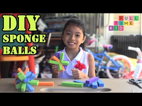 DIY Sponge Balls | Full-Time Kid | PBS Parents