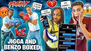 JERRY CAUGHT TEXTING ANOTHER GIRL ALREADY 💔 & JIGGA AND BENZO BOXED!🥊