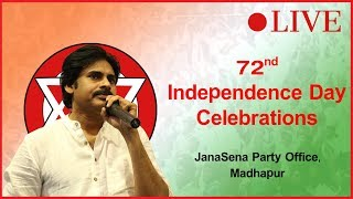 72nd Independence Day Celebrations | JanaSena Party | Pawan Kalyan