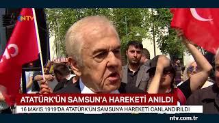 Atatürk'ün Samsun'a hareketi canlandırıldı