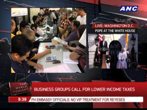 Business groups call for lower income taxes
