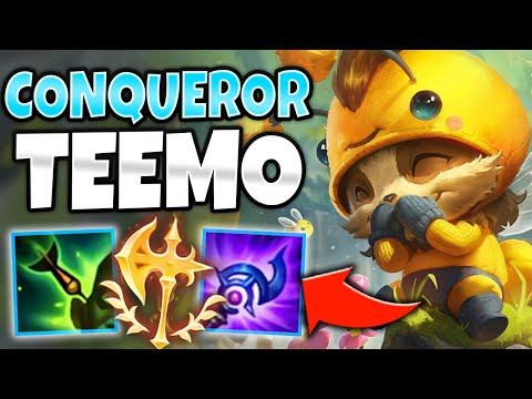 ULTIMATE LANE BULLY! TEEMO MID IS BROKEN WITH CONQUEROR - League of Legends