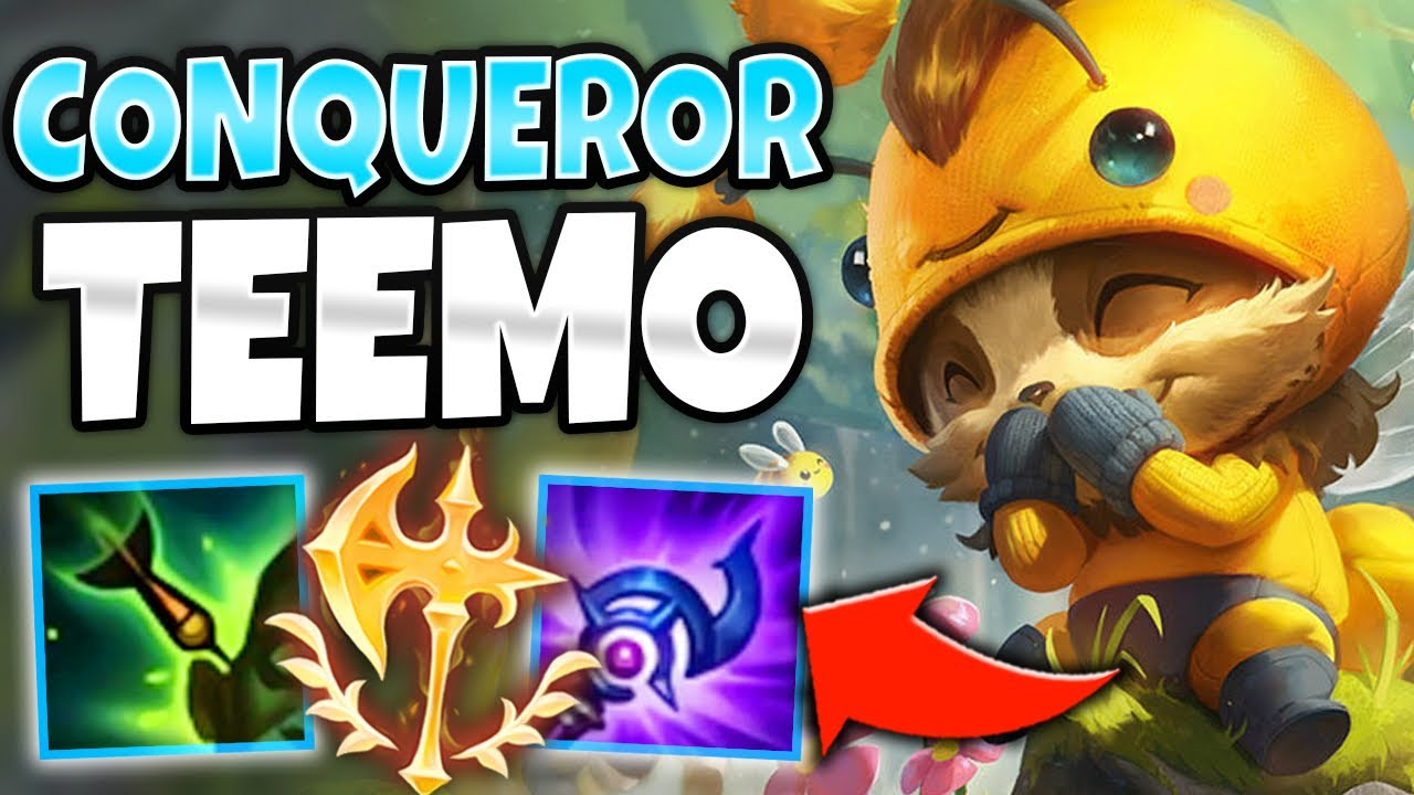 ULTIMATE LANE BULLY! TEEMO MID IS BROKEN WITH CONQUEROR - League of Legends thumbnail