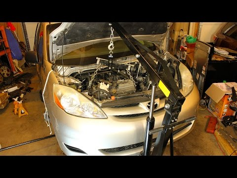 Toyota Sienna and RAV4 Engine Removal Swap - 3.5L 2GRFE - Dropping The Subframe (2007 - 2010)