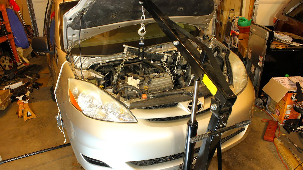 Toyota Sienna and RAV4 Engine Removal Swap  35L 2GRFE