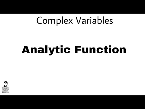 1. Analytic Function | Complex Variables