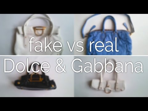 297a27949b63 Fake vs Real - Dolce   Gabbana Handbag - YouTube
