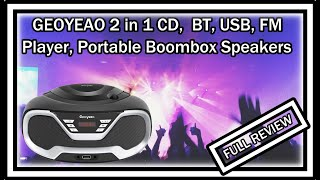 GEOYEAO 2 in 1 CD Player Porta…