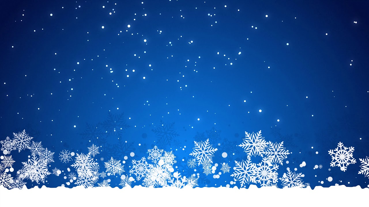 Free Animated Snow Falling Wallpaper Free Background Video Loop Christmas Blue Snowing 4k