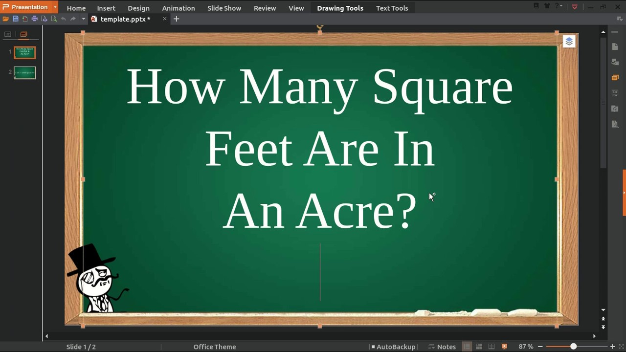 How Many Square Feet Are In An Acre Youtube