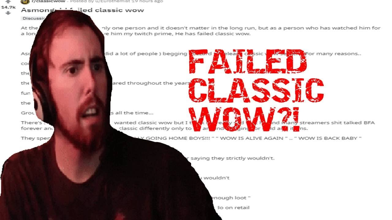 Asmongold RESPONDS to NEGATIVE REDDIT POST about him!