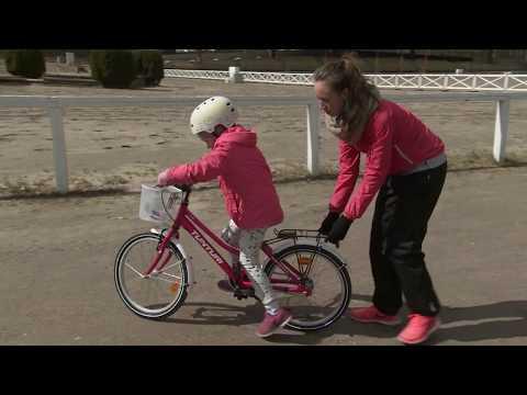 miten opettaa lapsi pyöräilemään